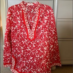 Tory Burch Floral Tunic, Size 8